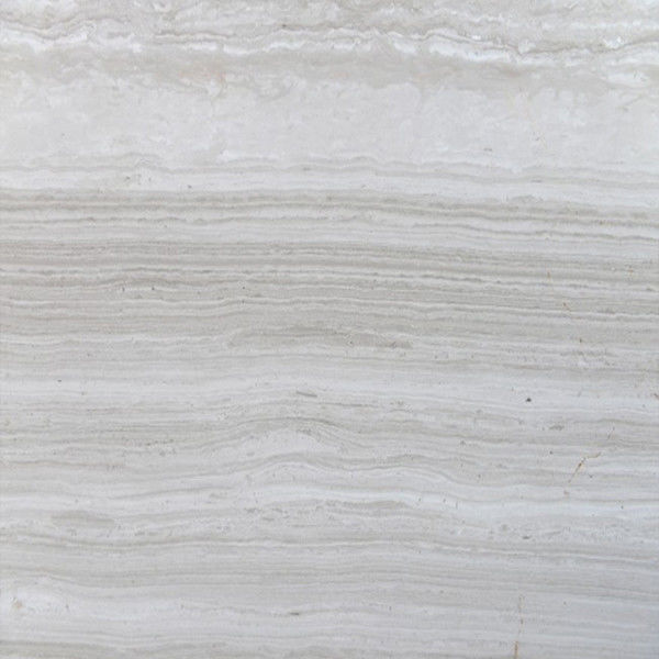 Customized Size 2.6 Density 30mm White Wood Vein Marble